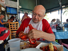 Marc Jampole at Billy's by the Bay, Greenport, Long Island, 2018